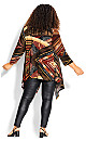 Plus Size Mixed Media Overpiece - brown