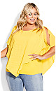 Plus Size Shelly Overlay Top - sunshine