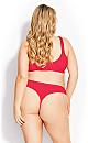 Plus Size Fashion Cotton Thong - hot pink