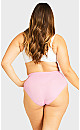 Plus Size Fashion Cotton Hi Cut Brief - sweet pink