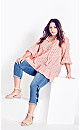 Broderie Blush Frill Top