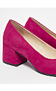 EXTRA WIDE FIT Pink Block Heel Court Shoes