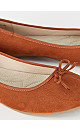 EXTRA WIDE FIT Rust Ballet Pumps