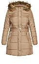 Longline Puffer Jacket - taupe