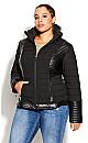 Sleek Puffer Jacket - black