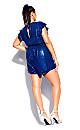Plus Size Sequin Playsuit - electric blue