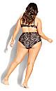 Plus Size Cancun Underwire Bikini Top - animal