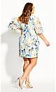 Plus Size Natalia Floral Dress - ivory