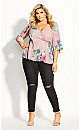 Heartwine Floral Top - rose