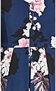 Darling Floral Dress - navy