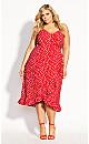Wrap Dream Dress - red