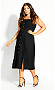 Safari Chic Dress - black