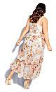 Rosa Bloom Maxi Dress - ivory