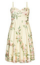 Delicate Embroidery Dress - cream