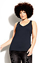 Plus Size Sweetheart Cami - navy