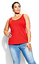 Plus Size Sweetheart Cami - red