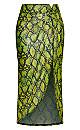 Neon Snake Skirt - neon