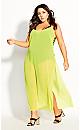 Miami Maxi Dress -  neon yellow