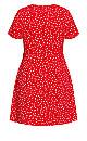 Blossom Rain Dress - red