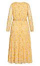 Amber Floral Maxi Dress - amber