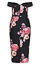 Plus Size Decadent Maxi Dress - black