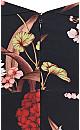 Exotic Blossom Maxi Dress - black