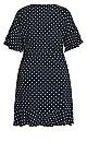 Plus Size Fresh Spot Dress - navy