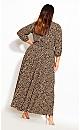 Cheetah Maxi Dress - sand
