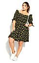 Sun Floral Dress - black