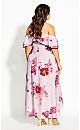 Sakura Floral Maxi Dress - dusk