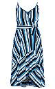 Moody Stripe Dress - azure