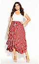 Summer Sunset Stripe Skirt - tigerlily
