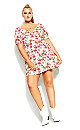 Plus Size Floral Botanica Dress - pink