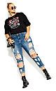 Plus Size Asha Demand Jean - black