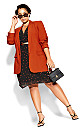 Essence Longline Jacket - rust