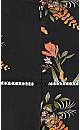 Plus Size Gypsy Floral Playsuit - black