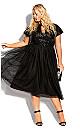 Plus Size Sparkle Joy Dress - onyx