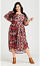 Plus Size Amile Print Dress - orange