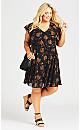 Ibiza Print Dress - black paisley