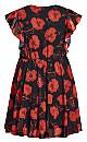 Ibiza Print Dress - black poppy