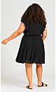 Plus Size Ibiza Dress - black