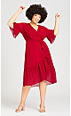 Plus Size Pacha Dress - red