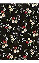 Plus Size Santorni Print Dress - black