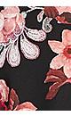Plus Size Vivian Wrap Print Dress - black