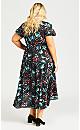Kuta Print Maxi Dress - black