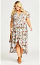 Kuta Print Maxi Dress - white