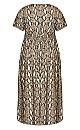 Kuta Print Maxi Dress - snake