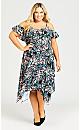 Margo Print Maxi Dress - blue