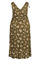 Patong Print Maxi Dress - olive