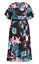 Vivian Wrap Print Maxi Dress - black floral